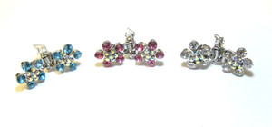 Flower - Blue, Pink, Clear (only 1 each colour left)