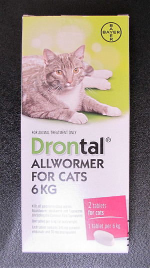 Drontal All Wormer For Cats 6kg 2pk