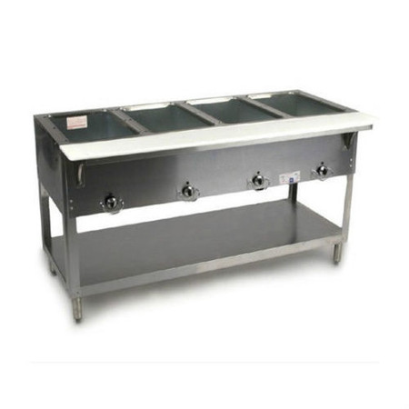 Well Gas Steam Table Dry Bath AEROHOT NEW Mikes - 4 well gas steam table