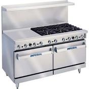"""36"""" 6 Burner Range w/ 24"""" Griddle & Standard Ovens IR-6-G24 (NEW) #4576"""