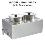 Double Food Warmer w/ Drain Valve UNIWORLD FW-1002DV (NEW) #4596