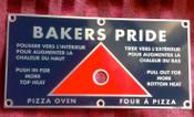 Baker Pride Pizza Oven Disbursement Slide Rod Plate NEW #1320
