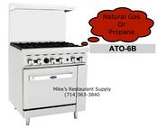 "36"" Range 6 Burner & Gas Oven Cook Rite ATO-6B NEW #6037"