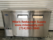 "59"" Back Bar Beer Cooler 2 Door Atosa MBB59 NEW #6778"