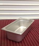 """1/3 Size Stainless Steel Insert Pan 4"""" Deep THUNDER GROUP STPA8134 (NEW) #1943"""