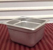 "1/6 Size Stainless Steel Insert Pan 4"" Deep THUNDER GROUP STPA6164 (NEW) #2009"