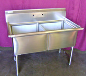 2 Compartment Sink 18x18 Tubs NSF NEW Blue Air BS2-18-12/N #6994