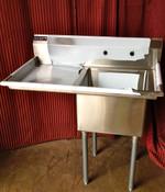 1 Compartment Prep Sink 18x18 w/Left Drain Board NEW NSF Atosa MRSA-1-L #7000