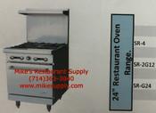 "24"" Range 4 Burner & Gas Oven Stratus SR-4 LP Propane NEW #7264"