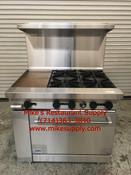 """36"""" Range 4 Burner 12"""" Griddle & Oven Stratus SR-4G12 NEW #7228"""