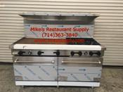 """60"""" Range 6 Burner & Griddle & Gas Ovens Stratus SR-6G24 LP Propane NEW #7275"""