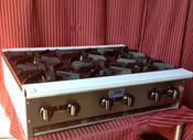 "36"" 6 Burner Hot Plate SHP-36-6 NG Gas (NEW) #1183"