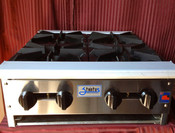 "24"" 4 Burner Hot Plate SHP-24-4 NG Gas (NEW) #1121"