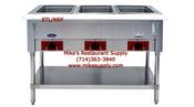 3 Well Electric Steam Table Atosa CSTEA-3 ETL/NSF NEW #8424