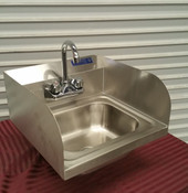 Hand Sink With Side Guards 16x12 Stainless NEW #1919