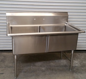 2 Compartment 24x24 Sink All Stainless Steel NSF GSW SH24242N #2639