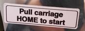 Hobart Slicer Sticker Decal Pull Home #3460