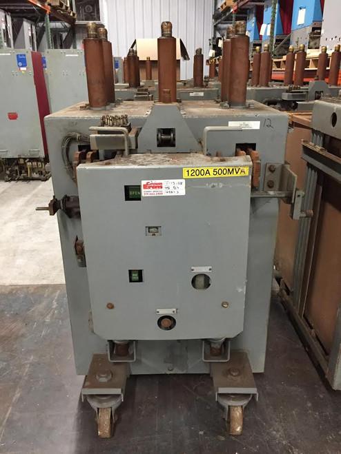 AM-13.8-500-5H-B GE Magne-Blast 1200A 15KV Air Circuit Breaker