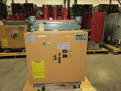 FKR-255 GE Converted to Merlin Gerin Fluarc FG-2 1200A 15KV Vacuum Circuit Breaker
