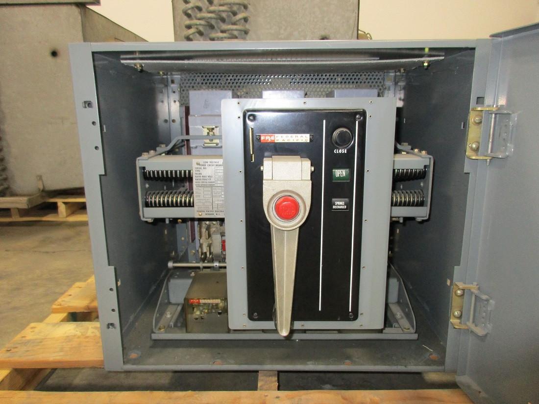 Fp 50 Federal Pacific 1600a Mo Fm Li Air Circuit Breaker W