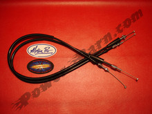"Motion Pro +4"" Oversize Throttle Cable Set for Honda XR650R with TM40 or FCR Carburetors"