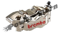 Brembo HP Billet 2 Piece Caliper Kit Nickel Plated 108MM Spacing