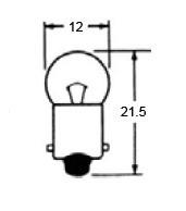 Indicator Bulb 6 Volt 3W, A-62
