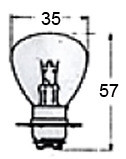 Headlight Bulb 12 Volt A5679R for Vintage Bikes