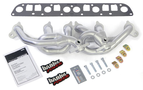 2000-2001 Jeep Cherokee 4.0L Stainless Steel Shorty Headers    Banks 51306   California EO D-161-78
