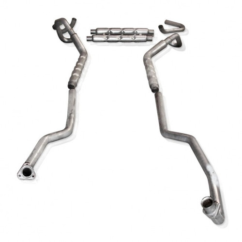 """1967-1968 Camaro   Small Block    Stainless Works Dual 2.5"""" Manifold-Back Exhaust System   OE replica"""