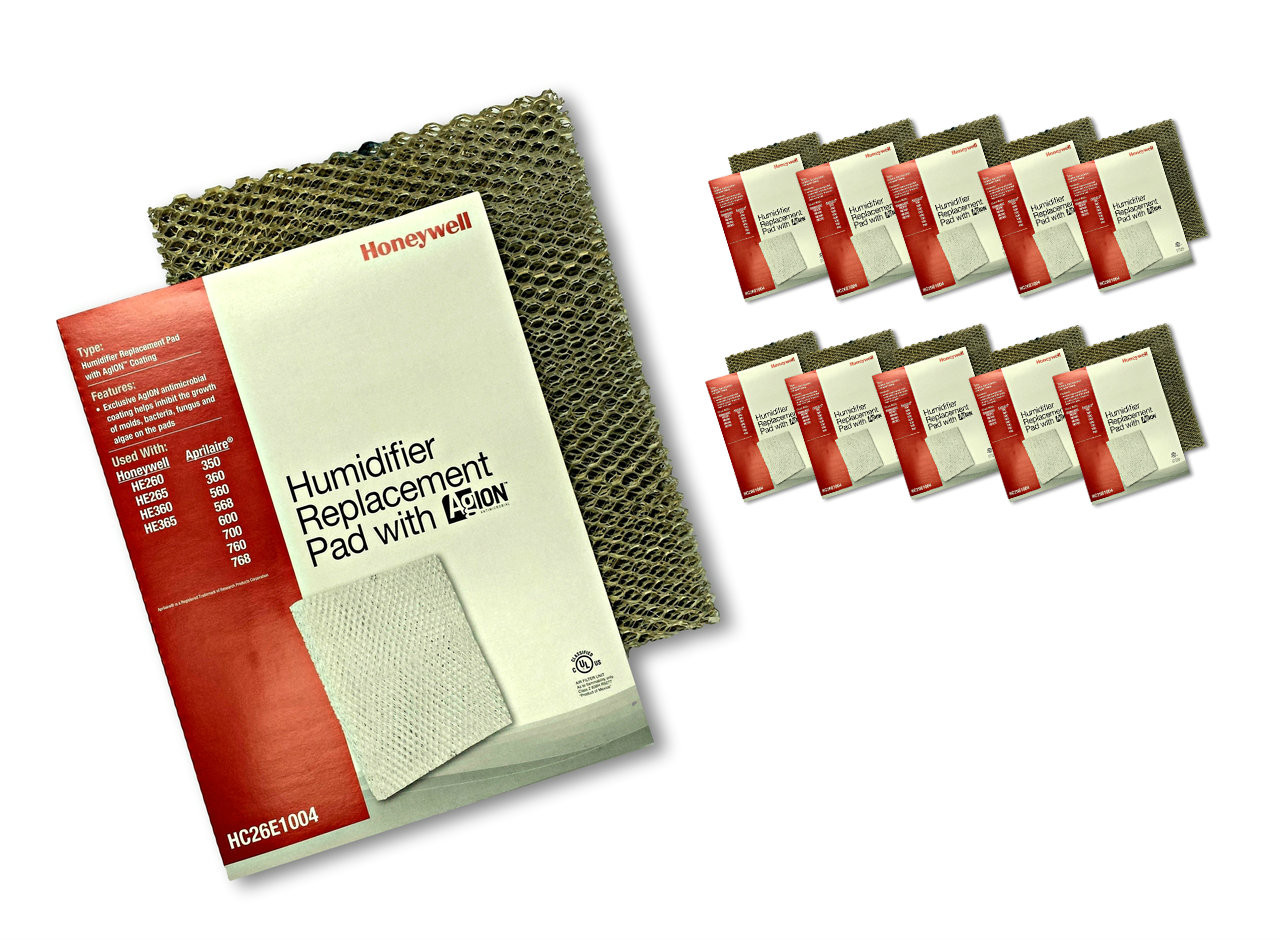 Honeywell HC26E1004 humidifier pads with Agion anti microbial coating  #971F12