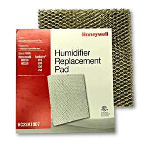 Honeywell HC22A1007 humidifier pad for use in furnace and heat pump humidifiers.