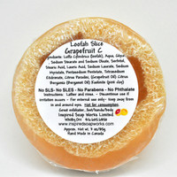 Inspired Soap Works Loofah Slice Grapefruit-C Ingredients, 85g