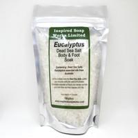 Inspired Soap works Eucalyptus Dead Sea Salt Body and Foot Soak, 180g