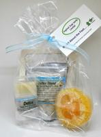 Inspired Soap Works Detox Blend Salve, Loofah & Sea Salt Package