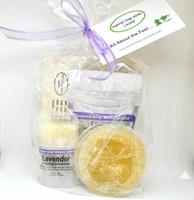 Inspired Soap Works Lavender Salve, Loofah & Sea Salt Package