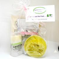 Inspired Soap Works Lime Lemon Salve, Loofah & Serenity Sea Salt Package