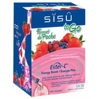 SISU To Go Ester-C Energy Boost, 30 Packets Natural Sweet Wildberry