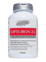 Nu-Life Opti - Iron 25, 60 Caplets