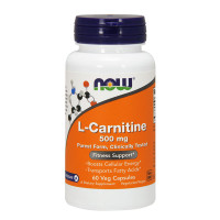 NOW L-Carnitine 500 mg, 60 Capsules