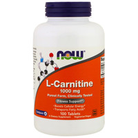 NOW L-Carnitine 1000 mg, 100 Tablets