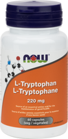 NOW L-Tryptophan 220 mg, 60 Capsules