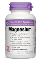 Preferred Nutrition Magnesium, 120 Veg Capsules