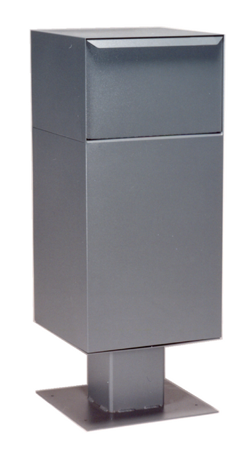 Gray Deposit Vault with Pedestal DVCS0030. Large Parcel Locking Drop Box with Pedestal  sc 1 st  Locking Security Mailbox & Locking Parcel Drop Boxes - Home Aboutintivar.Com