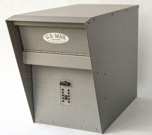 stone gray locking mailbox with combination lock option - Lockable Mailbox