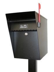 Locking Steel Curbside Mailbox with Post