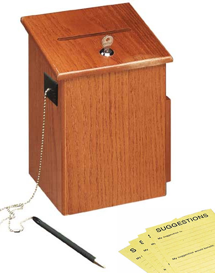 Wooden Suggestion Box With Lock Locking Drop Boxes