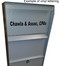 Large Locking Wall Mounted Mailbox shown with optional vinyl lettering