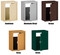 RECEPTACLE FOR WALL MAIL DROP SLOT color options