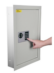 Digital Key Pad Wall Safe with Shelves